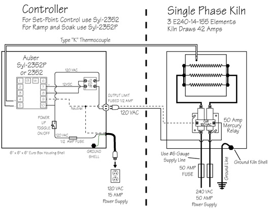 index of   elements  kiln control  wiring plans